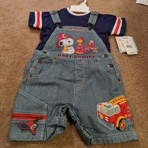 Baby Snoopy firefighter outfit